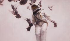 The cosmonaut by Jeremy Geddes
