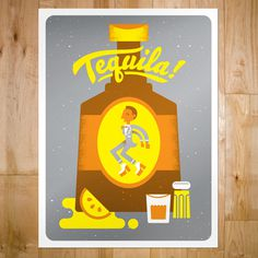 art prints : bandito design co. #illustration #alcohol #poster
