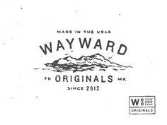 Wayward #logo #lettering #design #typography