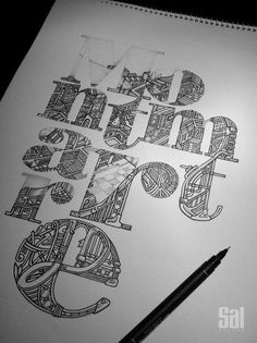 Montmartre by Sal Athens #typography