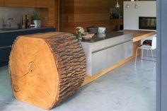 Tree Trunk Kitchen #kitchen #design #home