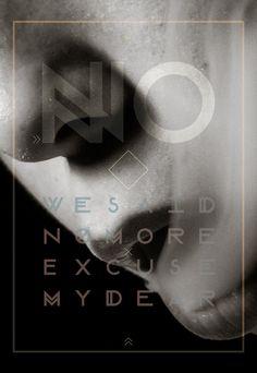 Modular Font on Behance #modular #font #white #smoke #lips #black #poster #no