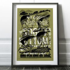 Soggy Bottom Boys Screen Printed Gig Poster