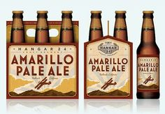 Hangar 24 Amarillo Pale Ale Six Pack #packaging #beer #label #bottle