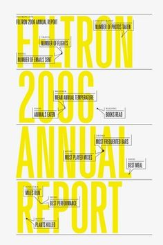 Nicholas Feltron | Personal Annual Report #design