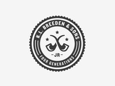 Dribbble - K.L. Breeden & Sons by Ryan Feerer #logo #pipe #typography