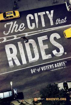 Bike Like a New Yorker1 #bicycle #typography #bike #street #york #nyc #new