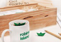 robinson island welcome pack #print #identity #tea #robinson