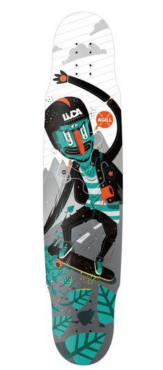 Luca Longboards Poland + Newfren on Behance #longboard