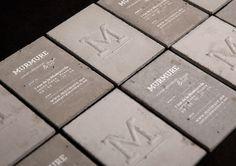 Concrete business cards | 123 Inspiration