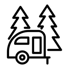 See more icon inspiration related to trailer, camping, vehicle, transport and animals on Flaticon.
