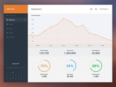 Dashboard UI // how can the graph relate to the percentages shown below?