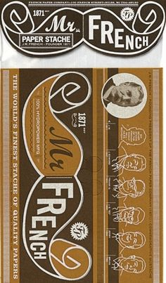 charles s. anderson design co. | Mr. French Mustache #images #design #csa #french #promo #paper