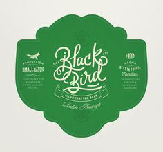 beer, green, blackbird, simplicity, fox, tag, beer tag, package, label,