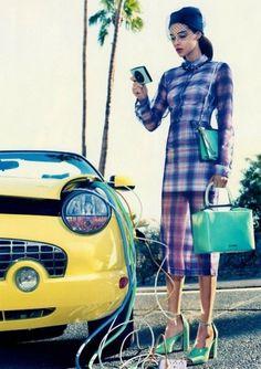 Sara Lindholm - pretaportre: Vogue March 2012 - Powder Play,... #fashion #color #vouge