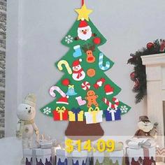 Felt #Christmas #Tree #Pendants #Children #DIY #Toys #- #MULTI-A