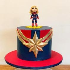 Great Captain Marvel Cake - captain marvel cakes,