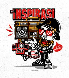 ECINSPIRASI SHIRT CONTEST on Behance #illustration #apparel #urban #character design