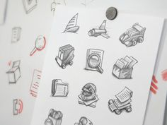 Mac App Icon Sketching by Ramotion http://ramotion.com