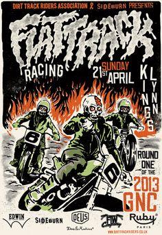 Flat Track Racing #skulls #bikers
