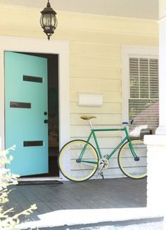 Color Tip! Add Color With These Accents The Color Cure | Apartment Therapy New York #door #color