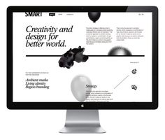 SmartHeart Website #white #portfolio #black #geometric #web #organic