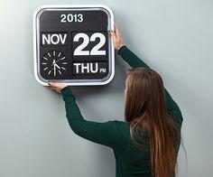 Karlsson Calendar Clock Big Flip #clock #gadget #flip