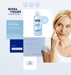 NIVEA / Productsection on Behance #design #nivea #layout #web #beauty
