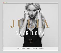 Julia Gavrilova #website #layout #design #web