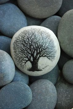 Painting art stone design