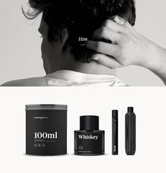 Commodity For Men #white #packaging #black #website #perfume #fragrance #cologne #minimal #leather #and #typography