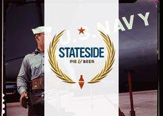 Stateside Pie & Beer Logo #logo #americana #beer #pizza