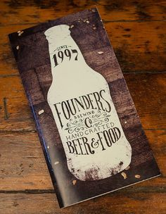 Founders Brewing Menu #beer #menu