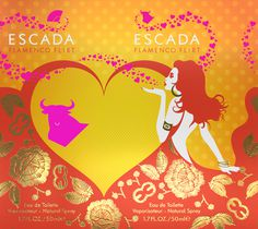 ESCADA #flat #design #fragrance #concept #carton