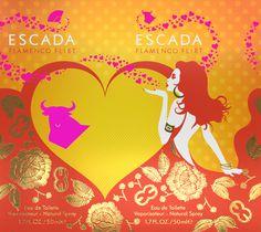ESCADA #flat #design #fragrance #concept #carton