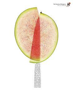 Poster #slice #watermelon