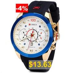 Curren #8166 #Men #Wristwatch #Water #Resistant #Watch #- #BLUE