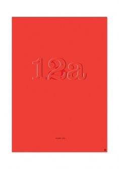 Posters – Self Initiated Project on the Behance Network #12a #superstitions #red #poster