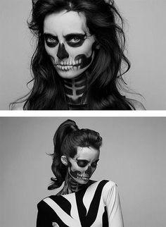 Skeleton Make-Up by Mademoiselle Mu – Inspiration Grid | Design Inspiration