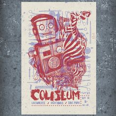 coliseum2.jpg 550×550 pixels #gigposter #coliseum #poster