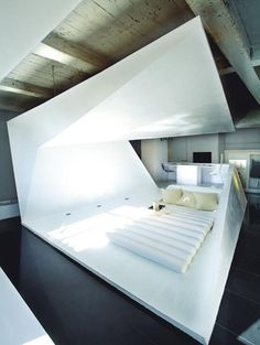 CJWHO ™ (thedesignerpad.com a pad of many folds i want...) #white #design #bedroom #interiors #photography #architecture #bed