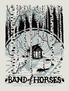 GigPosters.com - Band Of Horses - Darker My Love - Admiral Radley #horses #gig #print #of #screen #furturtle #poster #band