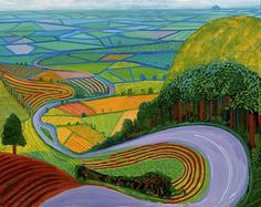 david-hockney-garrowby-hill.jpg 454×360 pixels #hockney #hill #garrowby #painting #david
