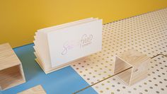 sixandfive-1 #pink #yellow #identity #blue #plywood