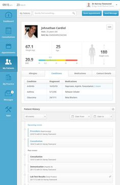 Clinical Dashboard - Patient Record by Andrew Lucas #dash