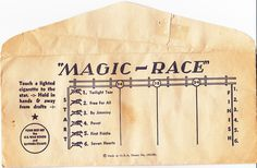 """MAGIC-RACE"" ENVELOPE"