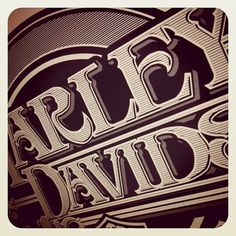 Instagram #hydro74 #harley #davidson #typography