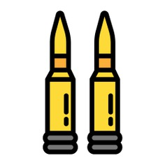 See more icon inspiration related to gun, bullet, shoot, weapon, ammunition, miscellaneous, cartridge, bullets, crime, shot, war and security on Flaticon.