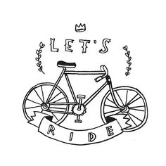 Tattly™ Designy Temporary Tattoos — Let's Ride #tattly #ride #illustration #bike #lets #hand