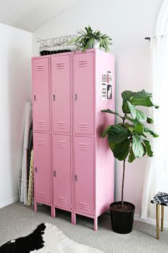 #interior #pink #lockers